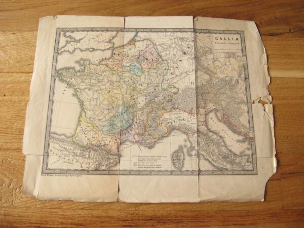 Alte Landkarte Callia Caesaris Tempote Nach Menke Um 1860