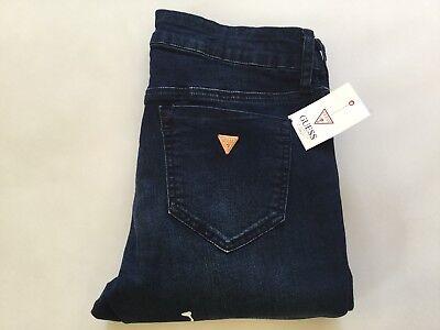 Donna Jeans Stretch Denim Blu Indaco aumento medio misura 8