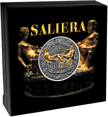 Rapture Niue Island 5$ Dollar Saliera Benvenuto Cellini Rare 2017 Promote The Production Of Body Fluid And Saliva Coins: World