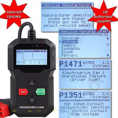 CAR FAULT CODE READER ENGINE SCANNER DIAGNOSTIC RESET TOOL OBDII fits  PEUGEOT | eBay