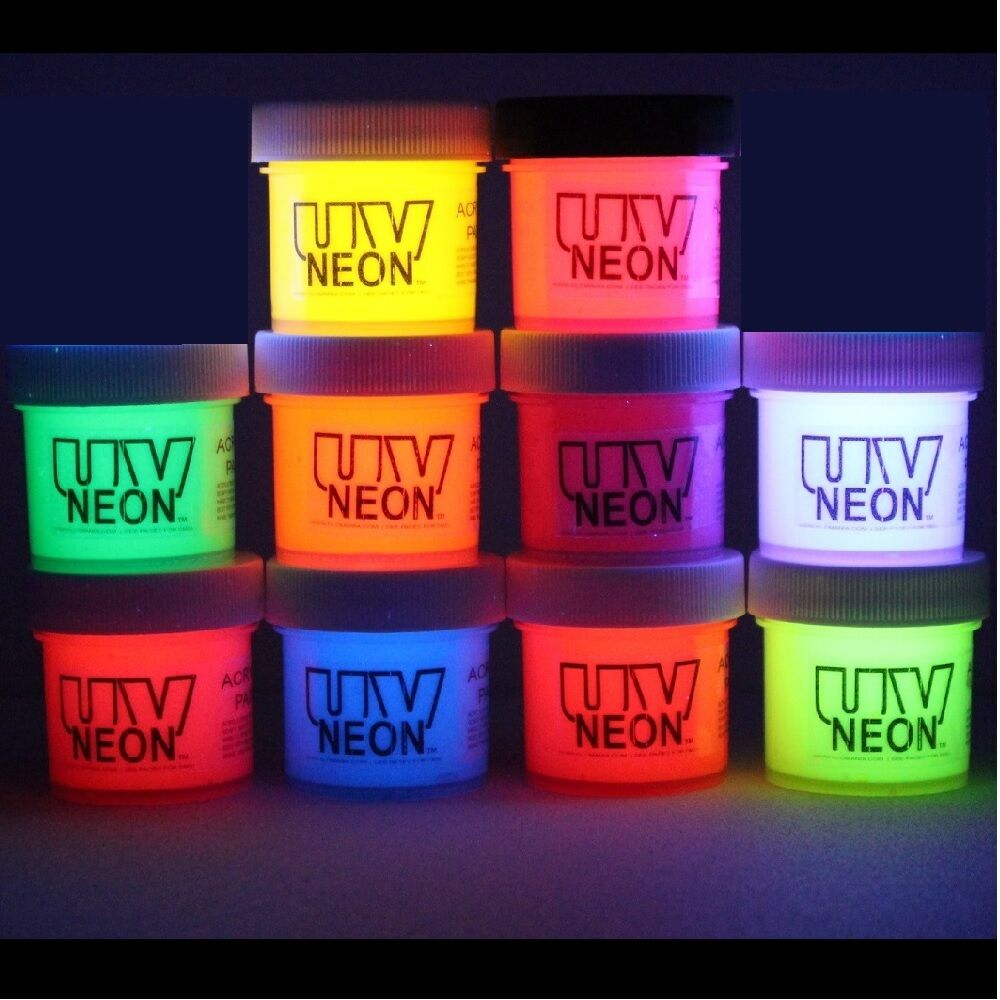 Neon Glow Graffiti Art Disco Drama Black Light Paints 10x1