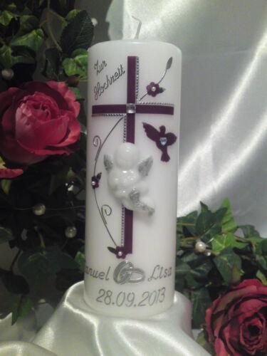 Hochzeitskerze Engel 200//70mm Lila//Silber sehr Edel Top Neu 2013 H014