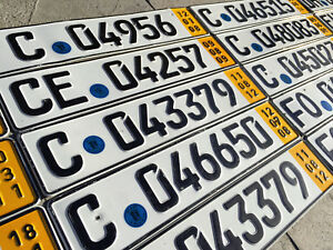 German-License-Plate-Temporary-Yellow-with-Seal
