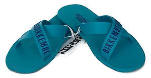 Croisées Pantoufles Pour 43 De Bikkembergs Col B6a8001 Taille Turquoise Hommes 2050 RAr4RW
