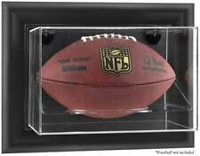Football Display Case Wall Mount Horizontal Choice Of Wood Or Black Frame