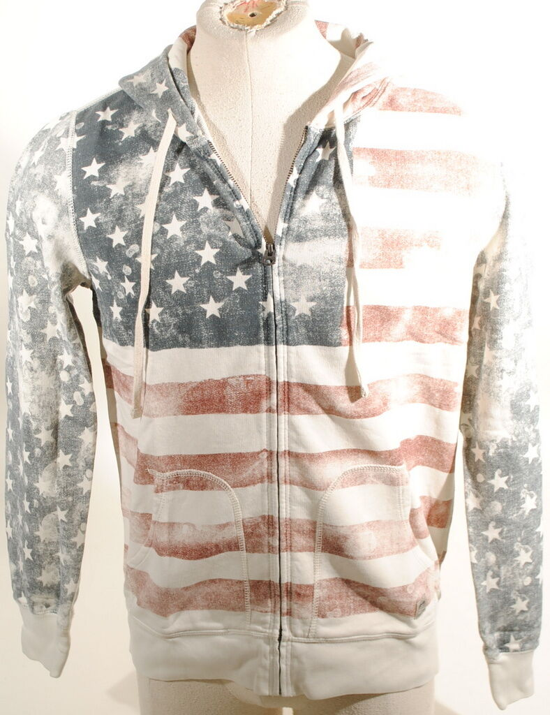 DENIM & SUPPLY RALPH LAUREN  AMERICAN FLAG TERRY HOODIE SWEATSHIRT  125 D3B