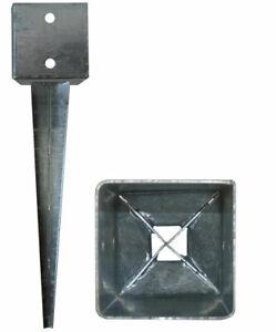 Bodenhuelse-141x141mm-Verzinkte-Erdanker-900mm-Einschlagbodenhuelse-2mm-Stahl