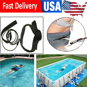 Swim Bungee Trainer Training Belt Swimming Resistance Leash Exerciser Tether