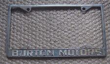 Burton Motors Desoto Dealership License Plate Frame Rare Metal Embossed Carrier