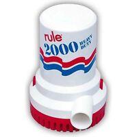 Rule 10 Non-automatic 12v Bilge Pump W/ 1 1-8 Discharge 2000 Gph on sale