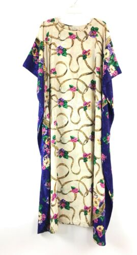 Ruth Norman Womens Vintage Caftan Lounge Smock Dre