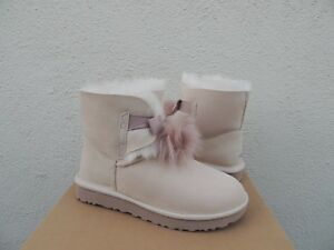 4b72b52af87 Details about UGG GITA POWDER WATER-RESISTANT SUEDE POM POM WINTER BOOTS,  US 9/ EUR 40 ~NEW