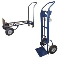 Convertible Hand Truck Vertical Amp Horizontal 4 Wheel Appliance Dolly Cart Lift