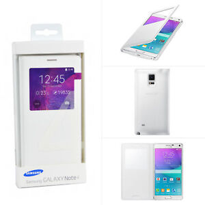 new concept 4cb3f af5b9 Details about New Genuine Samsung Galaxy Note 4 S-View Smart Window Flip  Cover Case For N910F