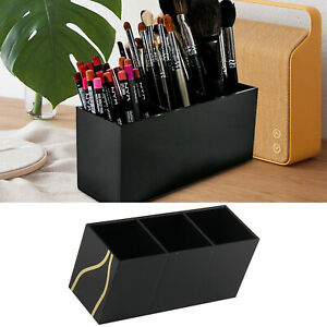 3 slots makeup brush cosmetic holder trio compartments