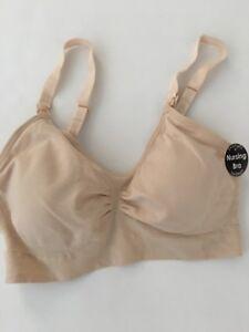 fce485b1d2 Image is loading Rampage-Maternity-Comfort-Nursing-Bra-Size-Medium-Nude-