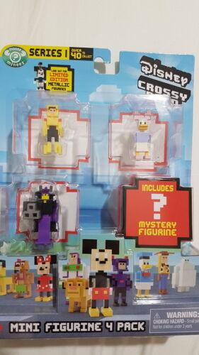 Disney Crossy Road Series 1 Mini Figurine 4 Pack Choose from 6 Packs