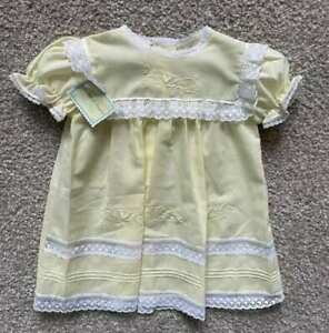 Garden of Angels Infant Baby Girl Yellow Vintage-Inspired Dress Lace NWT 9m