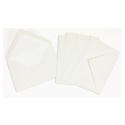 11.4cm x 16.2cm Crown Mill 25 Luxury Lined Envelopes C6 size WHITE