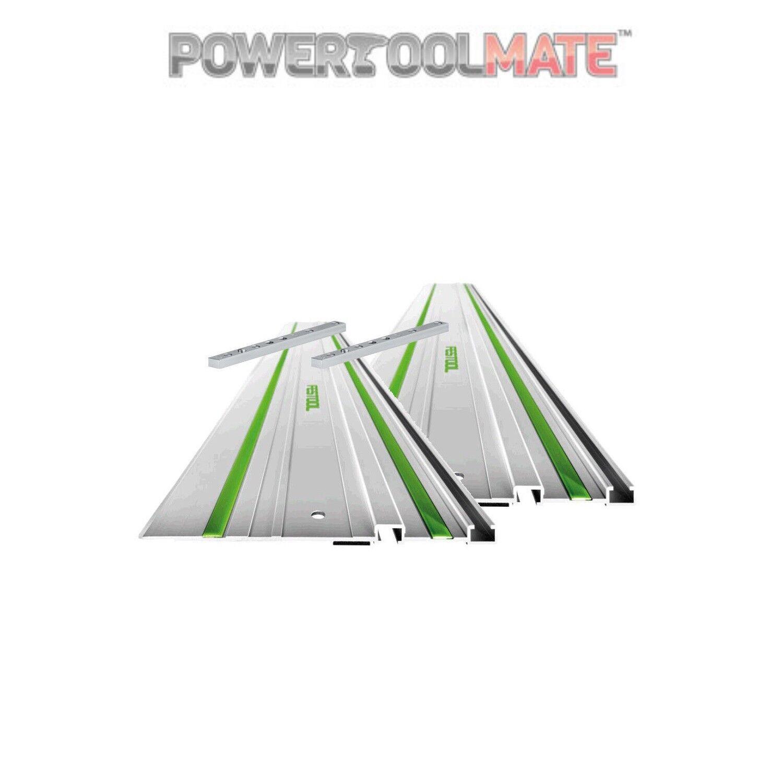 Festool 2 X 491498 1400MM Guide Rails + 2 X 482107 FSV Connectors For Plunge Saw