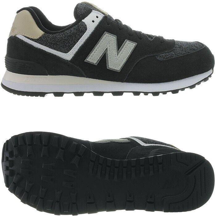 New Balance ML574V Herren low-top Sneakers schwarz Freizeitschuhe Wildleder NEU