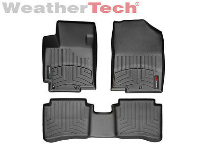 Black 2nd Row WeatherTech FloorLiner for Toyota Prius V 2012-2017