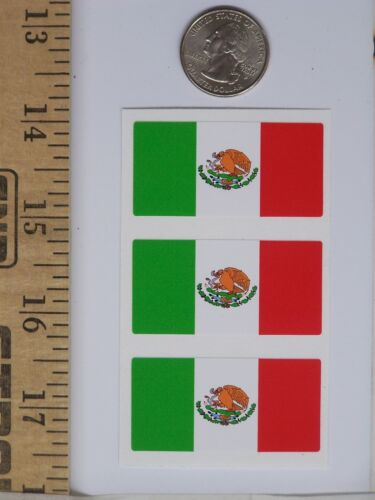 Mexican Flag Hard Hat Tool Box Helmet Sticker Mexico Decal H116 3