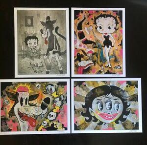 8-5x11-Set-6-WOLF-Signed-prints-By-Frank-Forte-Pop-Surrealism-Cartoon-Dark-Art