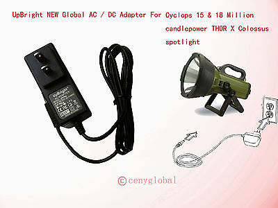 CAR Charger adapter for CYCLOPS 15 Million Candle Light Power spotlight
