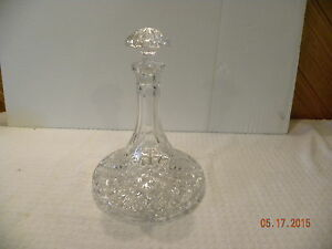 Vintage Crystal Ships Liquor Decanter