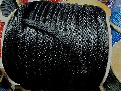 "Anchor Rope,dock Line 3/8"" X 98' Black Nylon Made Usa Professioneel Ontwerp"