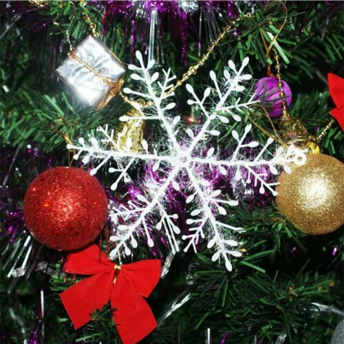 120pc White Christmas Snowflakes Decorations Xmas Tree Party Ornaments 13cm UK