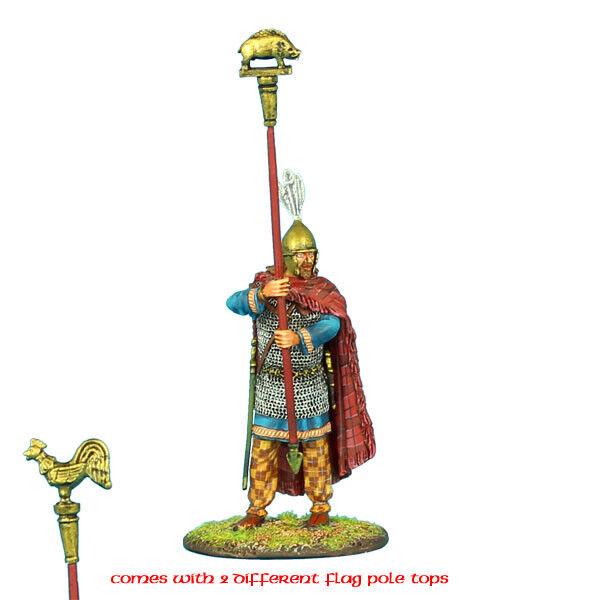 First Legion ROM081 Porte-enseigne Gaullois avec emblème coq et et et sanglier f2e2c8