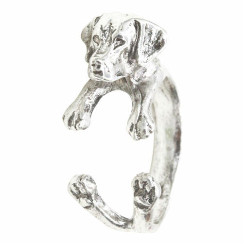 Dog Ring Pet Antique Vintage Animal Puppy Wrap Finger Adjustable
