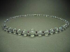 1940-039-s-Vintage-Czech-Bohemian-Clear-Faceted-Crystal-Glass-Bead-Necklace