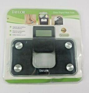 New-Taylor-7086B-Mini-Glass-Digital-Electronic-Scale-w-Expandable-Readout-Black
