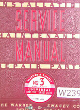 Warner Amp Swasey No 3 M 1200 Start Lot 82 Turret Lathe Service Manual 1953