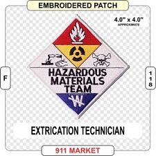 Memphis Fire Department Hazardous Materials Re-Act Team Patch Tennessee TN SKUFC
