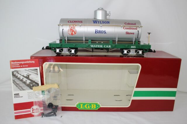 LGB G SCALE #4080-DG WILSON BROS. CIRCUS WATER TANK CAR, EXCELLENT, BOXED