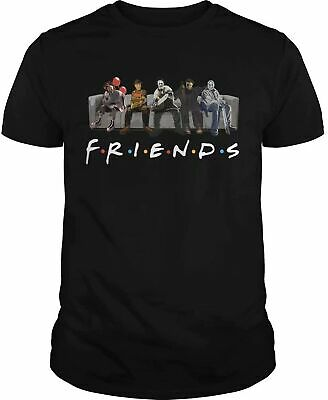 HORROR FRIENDS T-shirt Funny Birthday Cotton Tee Vintage Gift Men Women