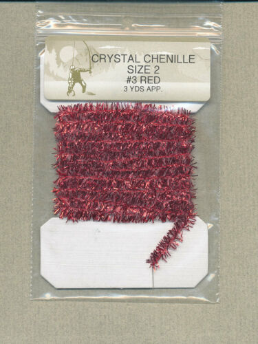 red large Crystal Metallic Chenille 3 yd card