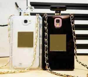 new style c6f24 dd4c3 Details about Clear Perfume Bottle Chain Strap Necklace Phone Cover Case  for Samsung Galaxy S5