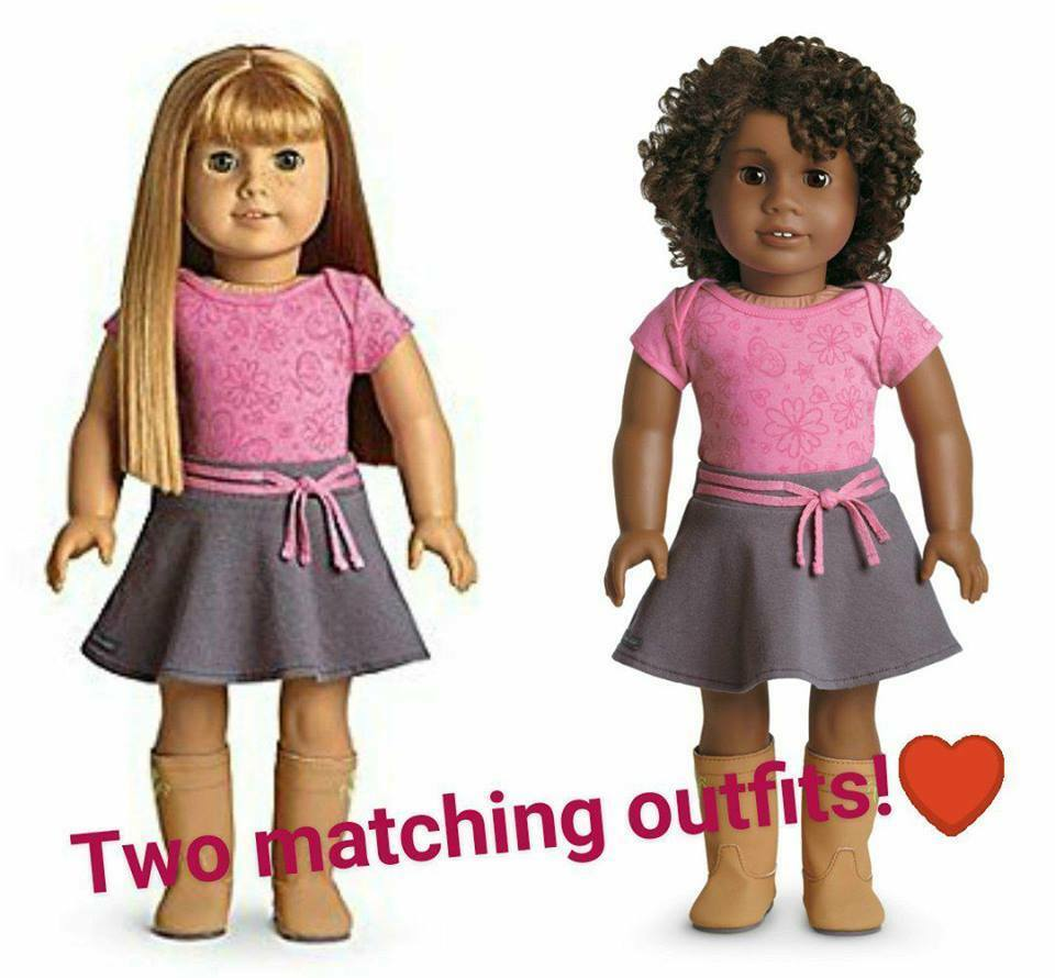 2x AMERICAN GIRL DOLL TRUE SPIRIT Outfits NEW in Packet Former MyAG Meet Set