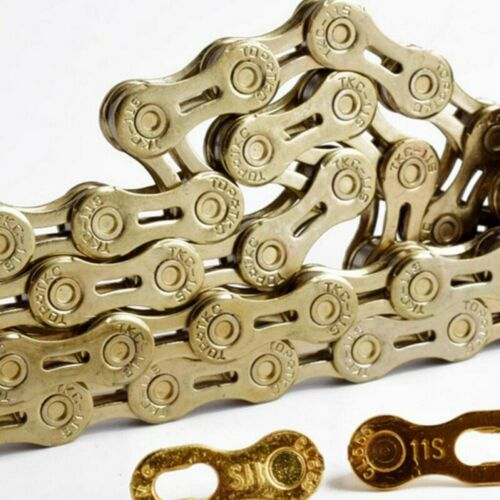 US MTB Road Bike Chain Steel Bicycle Chain 9//10//11 Speed Chain 116L For Shimano