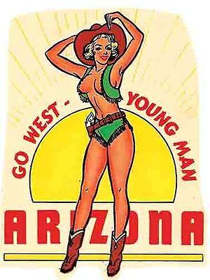 Grand Canyon  AZ  Pin-Up Vintage Style 1950/'s Travel Decal Sticker  Arizona