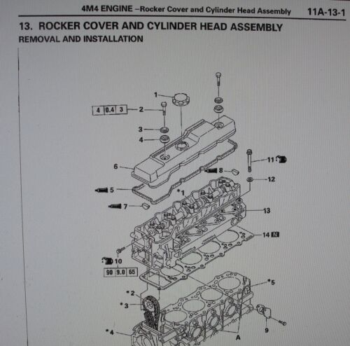 SHOGUN MITSUBISHI Workshop /& 2.8 TD motore 4M40 Manuale /& diagramma di cablaggio