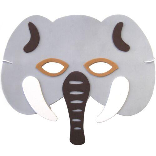 masques visage 30 MASQUES éléphant en mousse-enfants Safari ROBE FANTAISIE ANIMAUX