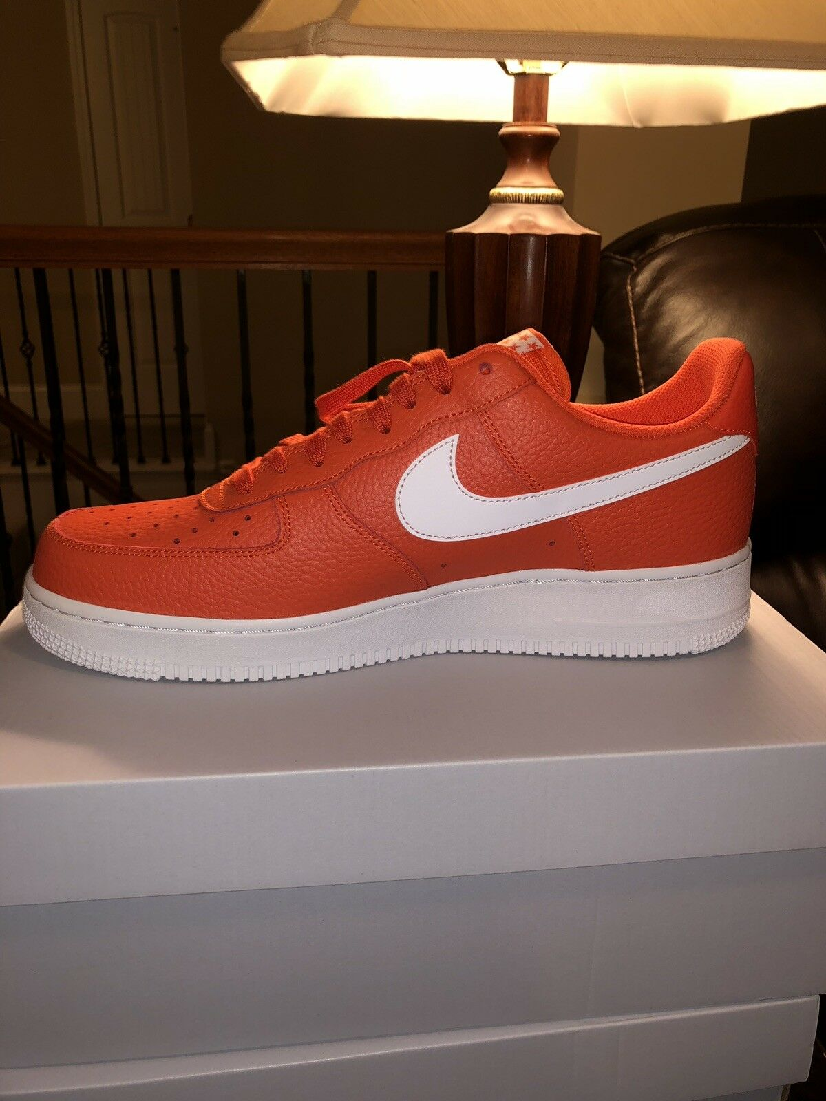 New Nike Air Force 1 '07 Low Mens shoes Size 12 Team orange White AA4083 800