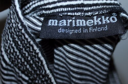 in a m Finlandia cotone Taglia S righe Marimekko Bianco Nero Gonna EqURdwxPq
