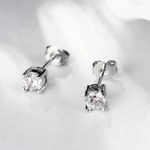 2Ct-Round-Cut-Stud-Earrings-in-14K-White-Gold-Plated